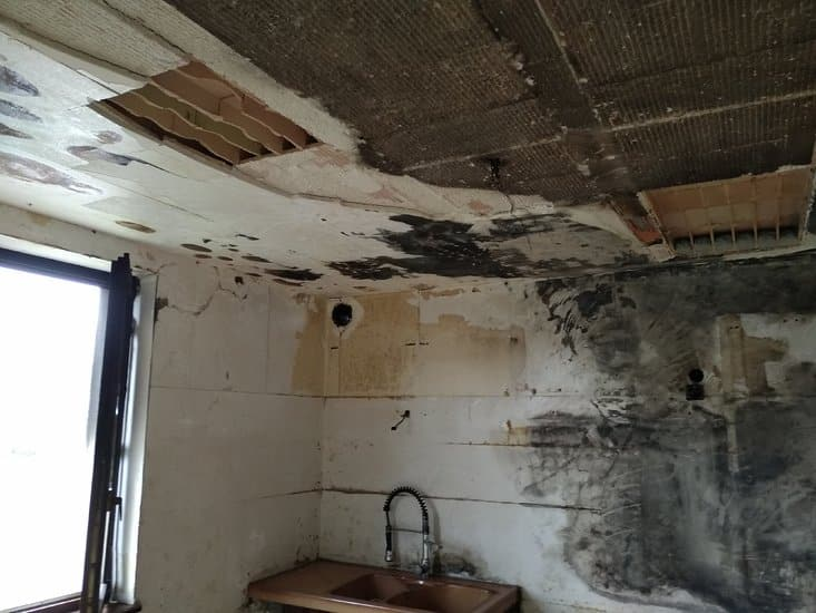 7 aprés travaux de decontamination, dépose, ect...